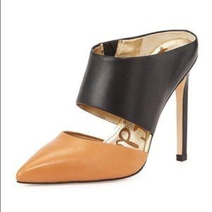 Sam Edelman Monroe Leather High Heel Mules, 8.5